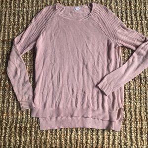 Garage light pink long sleeve top sweater